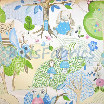 Woodland Friends - Sky - £11.95 per metre