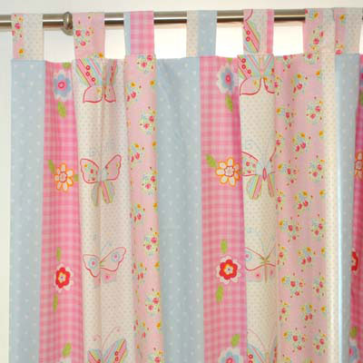 Tab top Curtain Heading Ready Made kids curtains for child's room